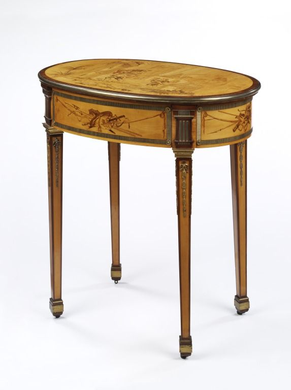 A small side table by David Rotengen 1743 - 1807 Germany
