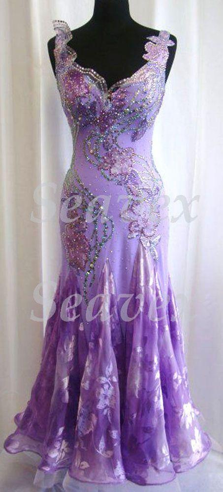 3076K Formal Ballroom gown Tango Waltz salsa foxstep standard dan...