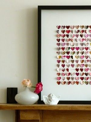 hearts in a frame
