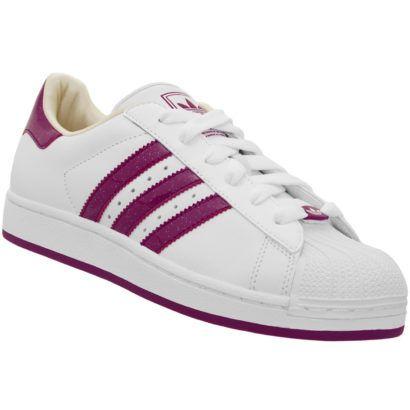 modelos de tenis adidas feminino branco com roxo