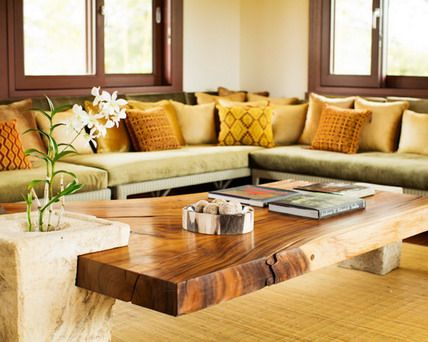 Corner Sofa Furniture with Small Wood Coffee Table in Modern Living Room Paint Decorating Designs Ideas