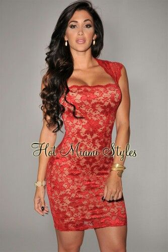 Red dress lace xhair