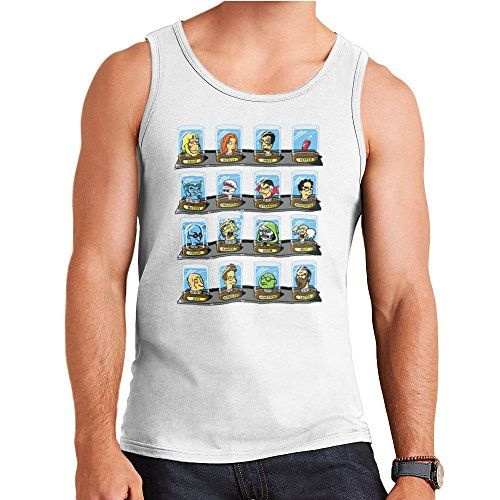 DOC Futurama Pop Culture Heads In Jars Two Mens Vest * Find out more about the great product at the image link.