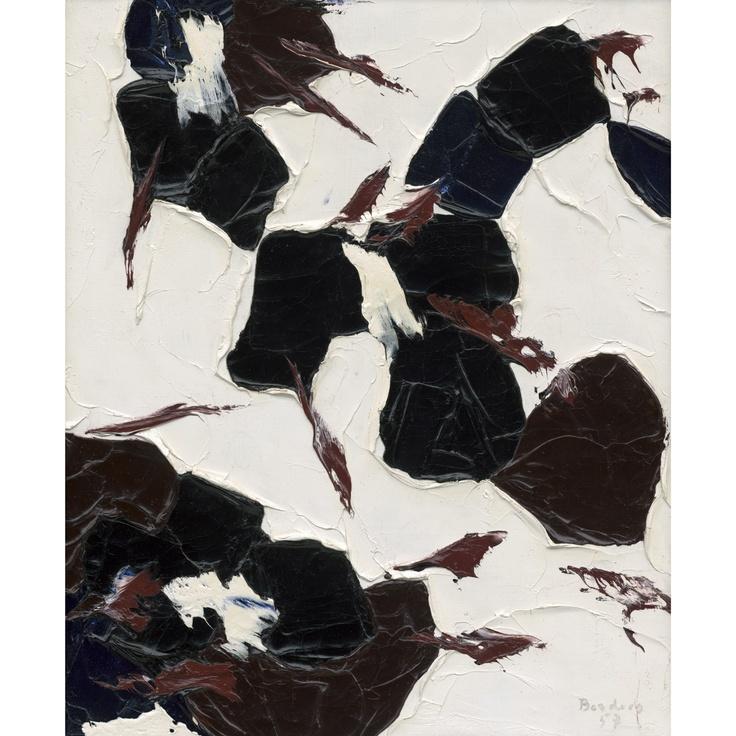 Paul-Émile Borduas, Chatterie, 1957. Follow the biggest painting board on Pinterest: www.pinterest.com/atelierbeauvoir