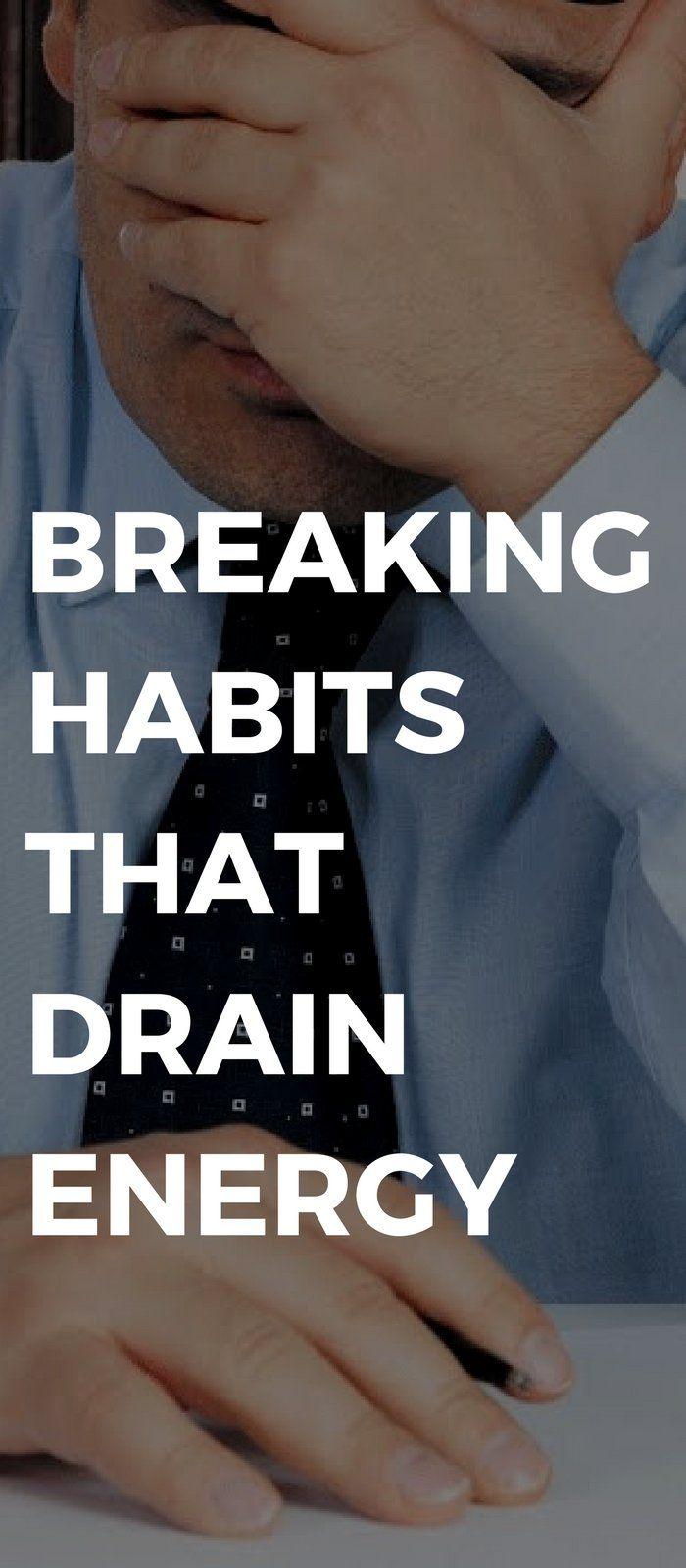 Habits lifestyle draining energy 2019
