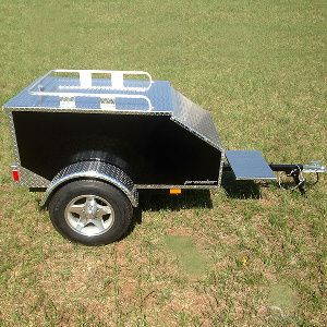 Small Car Cargo Trailers 60x36x24 Aluminum Enclosed Trailer For