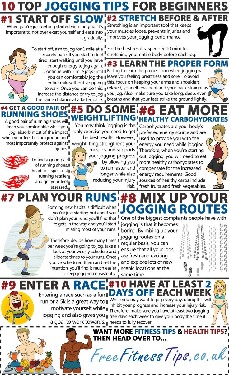 10 Top Jogging Tips For Beginners Infographic
