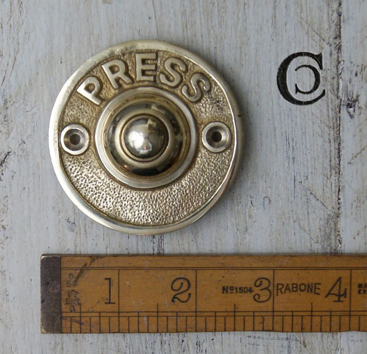 Cottingham Bell Push in Solid Brass