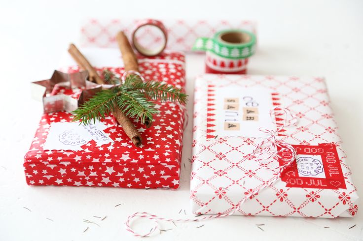 washi tape christmas / gift wrapping