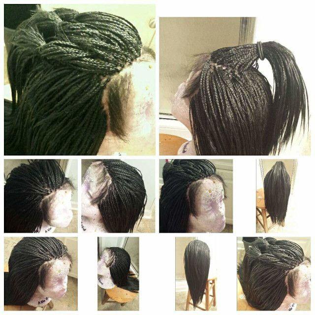 human hair micro braided full lace