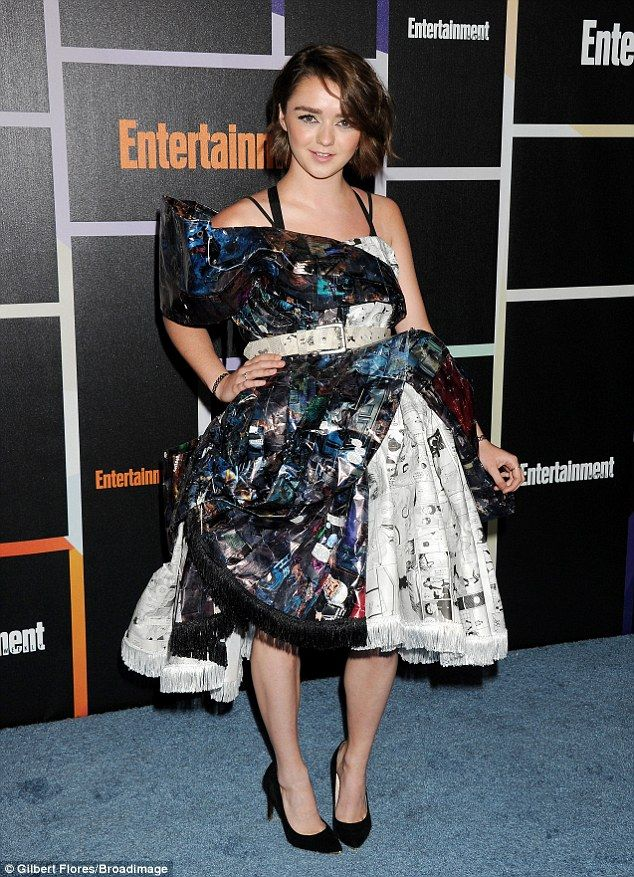 A Stark contrast: Maisie Williams steps out in fashion forward dress at the Entertainment Weekly Comic-Con Party on Saturday night