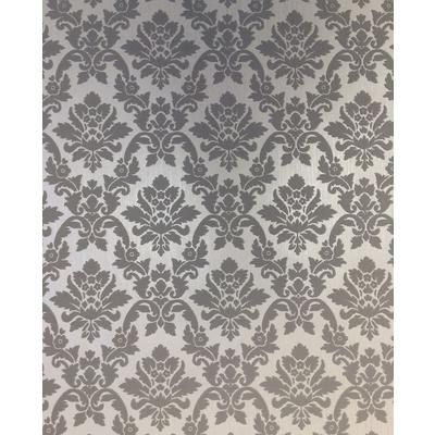 Superfresco damask gray silver wallpaper 20 565 home for Wallpaper home depot canada