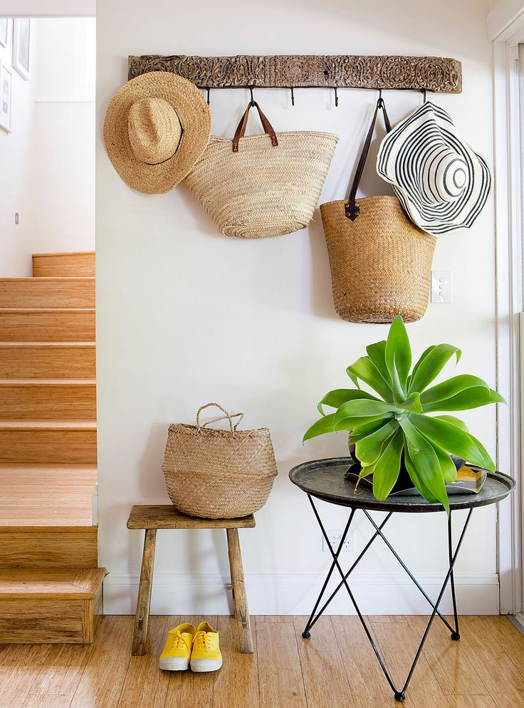 How To Make Your House Feel Like Summer #refinery29  http://www.refinery29.uk/summer-decorating-tips-plants#slide-7  The last strawIf you're not keen on the full-on 1970s look of rattan furniture, try hanging a collection of straw bags, hats and baskets on your wall instead. Similar to the qualities of rattan, anything woven from straw, bamboo, jute or hessian is shorthand for summer, so is a cheap way of inserting a little sunshine indoors. Go to town with a full wall display, or just a...