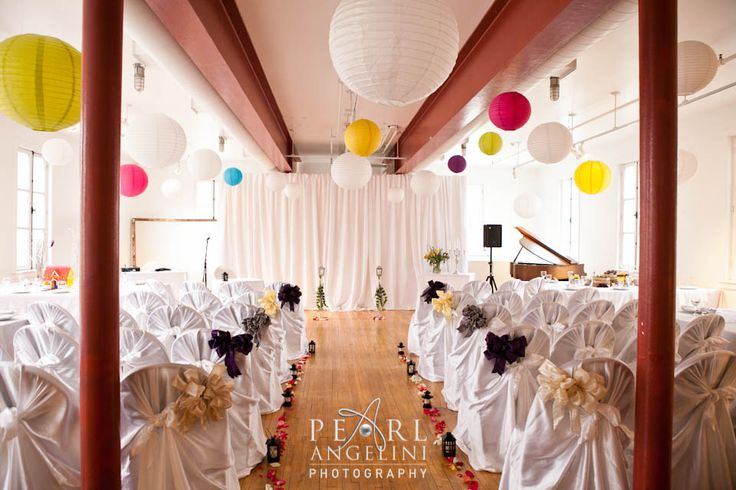 Colorful decor @ St Norbert Arts Center {Winnipeg Wedding Photography}