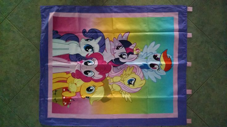 """My Pretty Pony Wall Hanging 35"""" x 42"""" (backed in cotton candy pink cotton fabric) with 5 loops to hang up by ShawnasSpecialties on Etsy"""