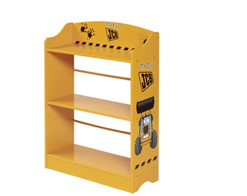 This My 1st JCB Bookcase is ideal for your little boy's bedroom. It is tinted with yellow and JCB Digger themed that has three shelves presenting bounty of room for books storage.