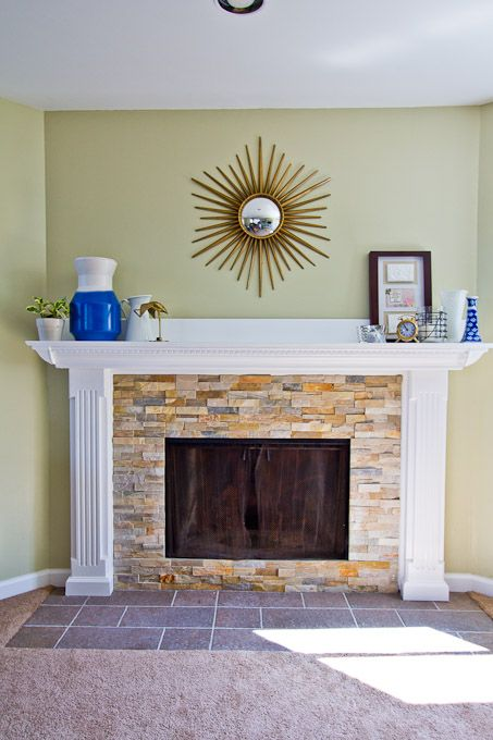 17 best ideas about fireplace refacing on pinterest stone fireplace makeover mantle ideas and. Black Bedroom Furniture Sets. Home Design Ideas