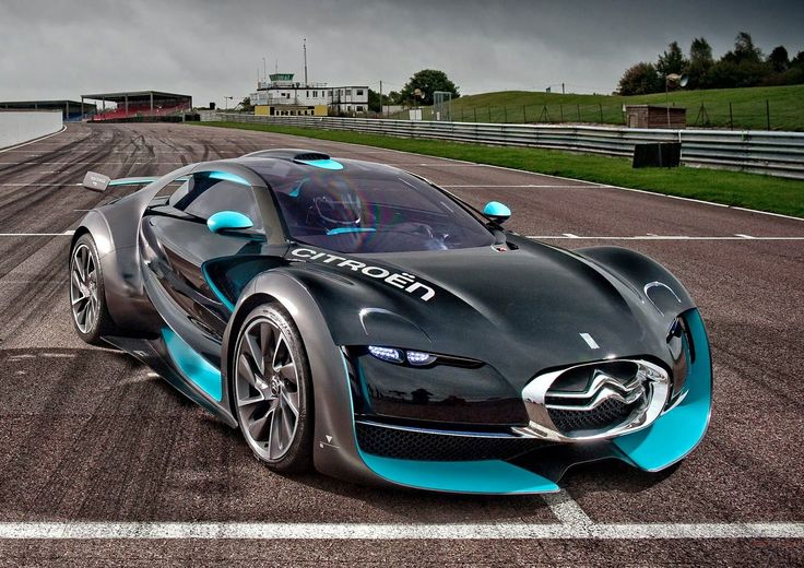 Citroen Survolt concept car with a new compelling and memorable view, similar to the car of the future.