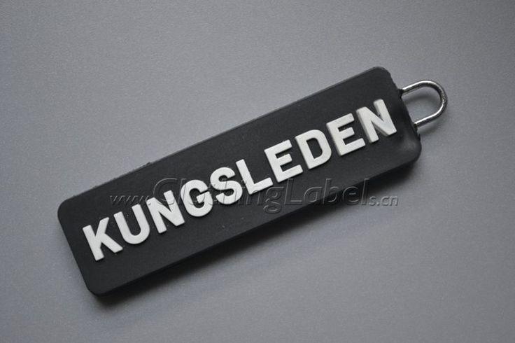 zipper puller,PVC, metal ring,embossed logo