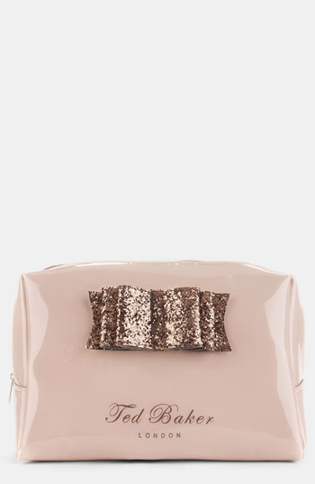 Ted Baker London 'Glitter Bow - Large' Cosmetics Bag | Nordstrom...want it
