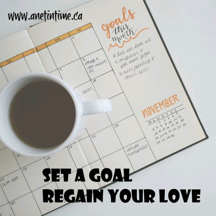 Do you want to regain your love of writing? Start setting goals.
