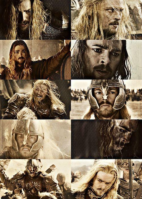 Éomer, Third Marshal of the Riddermark. Son of Éomund, brother of Éowyn, nephew of Théoden.