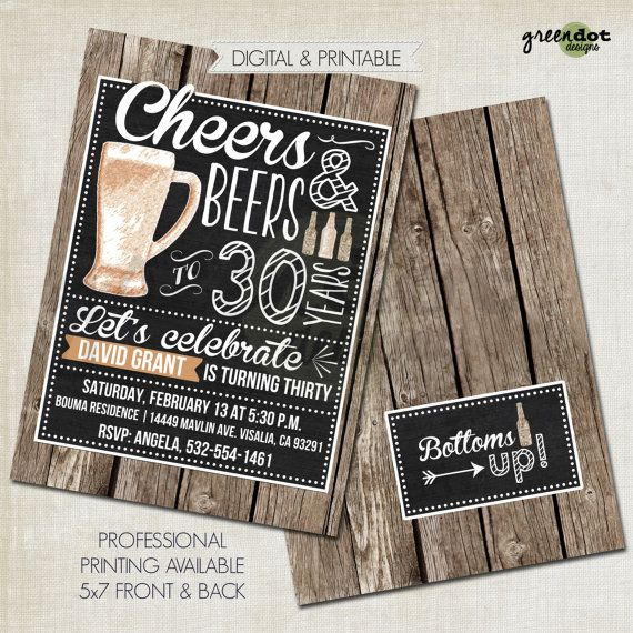 Hey, I found this really awesome Etsy listing at https://www.etsy.com/listing/255594459/beer-birthday-invitation-cheers-and
