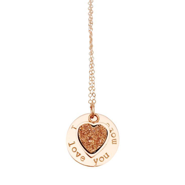 """I Love You More"" in Rose Druzy | Wrenn Jewelry"