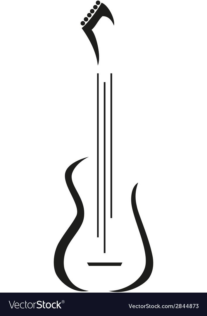 Electric Guitar Icon A Vector Logo Template Download A Free Preview Or High Quality Adobe Illustrat Guitar Tattoo Design Guitar Wall Art Music Tattoo Designs