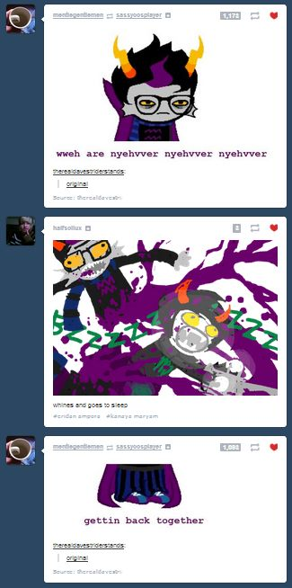 Poor Eridan forever alone in peices I HAVV BEEN WWAITING FOR THIS!