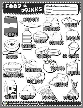 Food and drinks picture dictionary