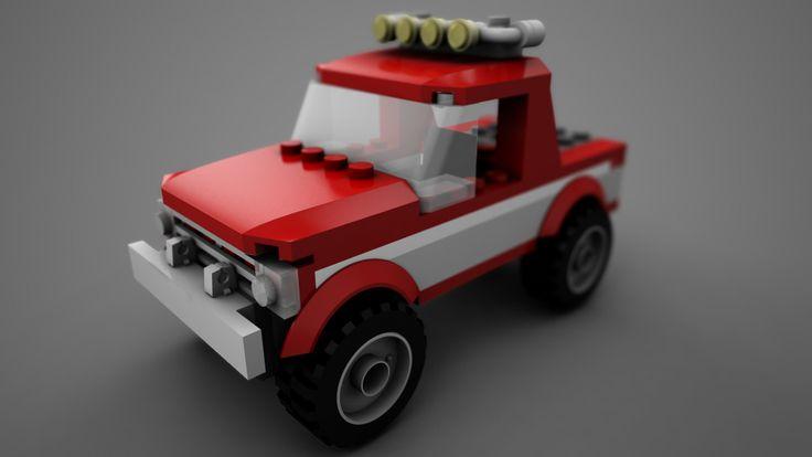 Free Asset - 3D Lego car on Behance #lego #car #free #3D #maya #behance #turbosquid