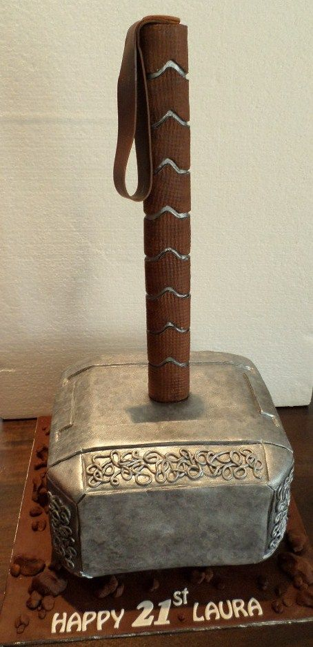 Custom made Thor hammer cake created by Villa Chateau cakes
