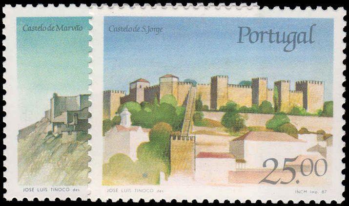 Portugal 1987 Castles (6th series).