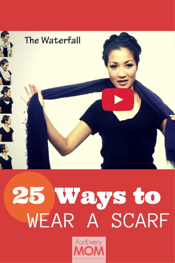 25 ways to wear a scarf tutorial from Wendy's Look Book. I love all these ways to tie a scarf! They totally jazzed up my mom uniform.
