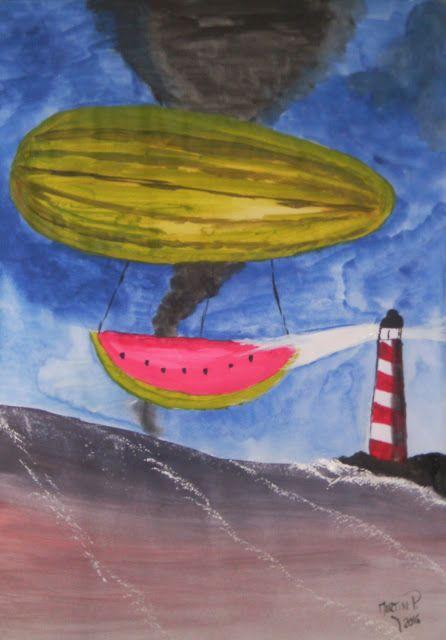 Los Guardianes del Arte: sandia atravesando una tormenta en un mar de vino ...