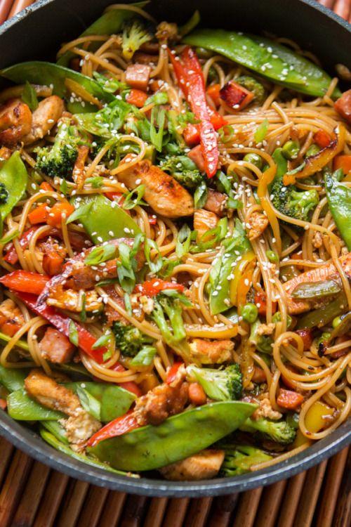 Teriyaki Chicken NoodlesReally nice recipes. Every hour.Show me  Mein Blog: Alles rund um die Themen Genuss & Geschmack  Kochen Backen Braten Vorspeisen Hauptgerichte und Desserts # Hashtag