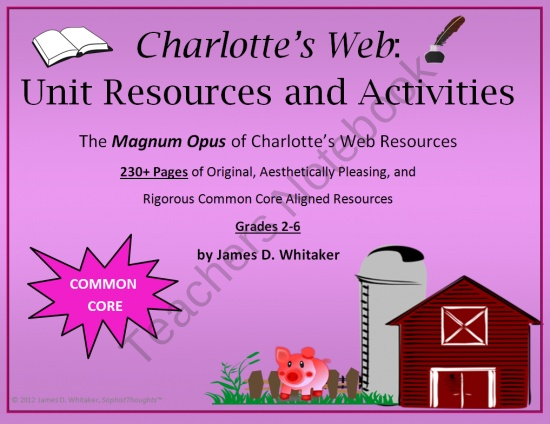 Charlotte's Web Novel Study Unit Resources product from SophistThoughts on TeachersNotebook.com