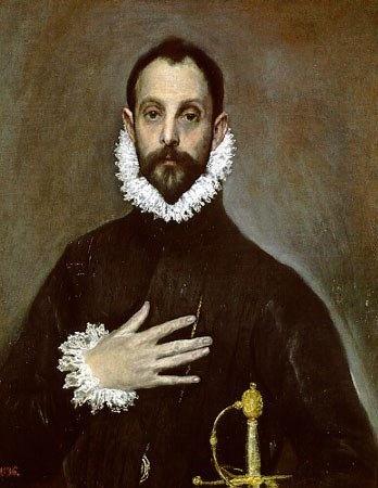 El caballero de la mano al pecho, El Greco