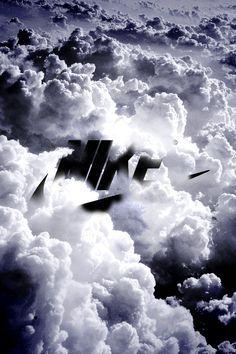 Fond d'écran Nike dans les nuages