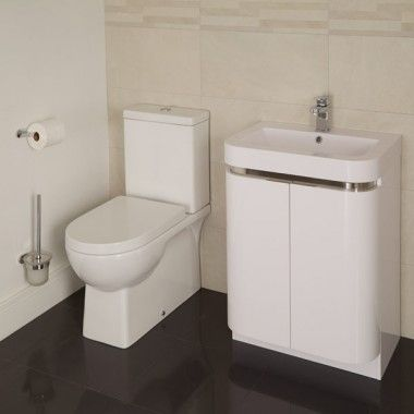 Modena Murcia 60 Floor Mounted 2 Door Vanity Unit Suite Small Bathroom Storage Ideas