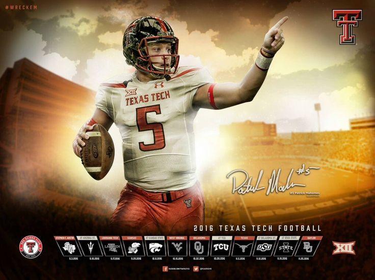 2016 Texas Tech Football Poster