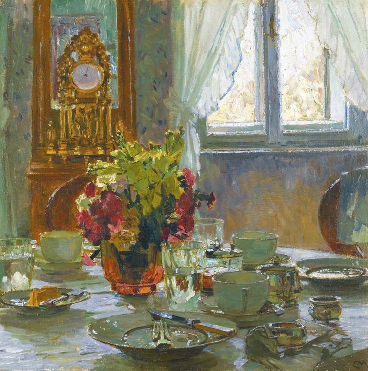 carl moll 1861 1945 der fr hst ckstisch the breakfast. Black Bedroom Furniture Sets. Home Design Ideas