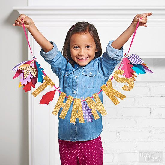 Entertain the kids while the turkey cooks with these fun and easy holiday crafts! They'll be entertained for hours with fun coloring pages, paper crafts and signs made with glitter and stickers to celebrate Thanksgiving.