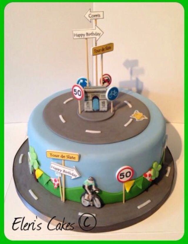 Road Bike Cake Decoration : 118 Best images about Kuchen on Pinterest Birthday cakes ...