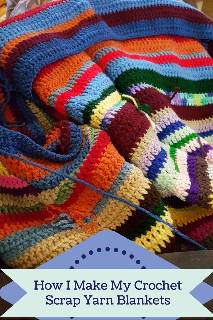 See how I make my crochet scrap yarn blankets. Don't throw away or give away your yarn. Turn it into a warm and cozy blanket. http://poochie-baby.com
