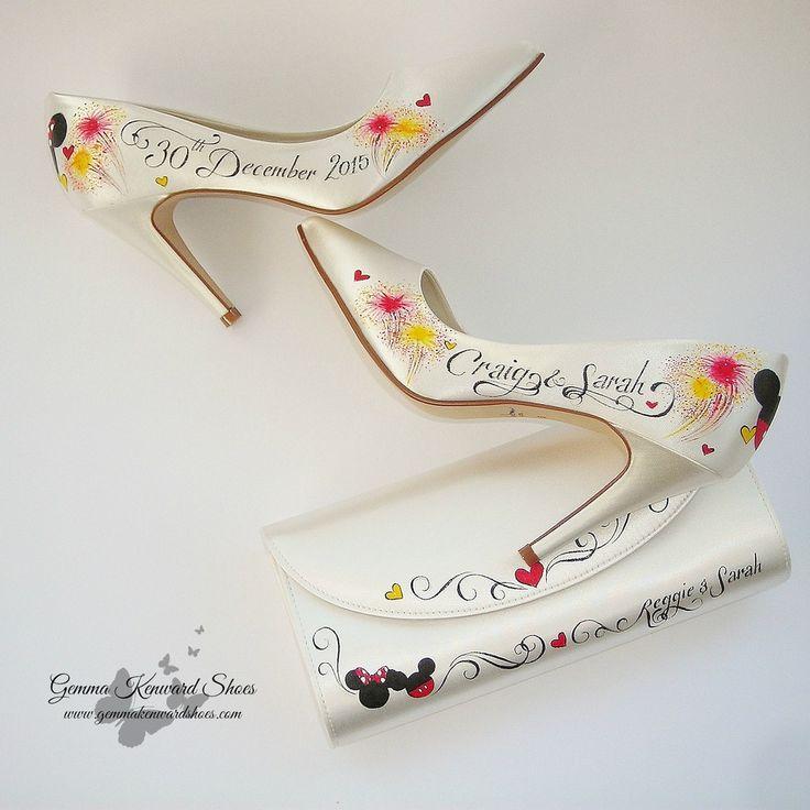 #bride #bridal #wedding #shoes #mickeymouse #minniemouse #disneyshoes #mickeyshoes #minnieshoes #bridalwedges #weddingshoes #bridalshoes #weddingclutch #clutch #cutchbag #eveningbag #weddingbag #high #heels #highheels