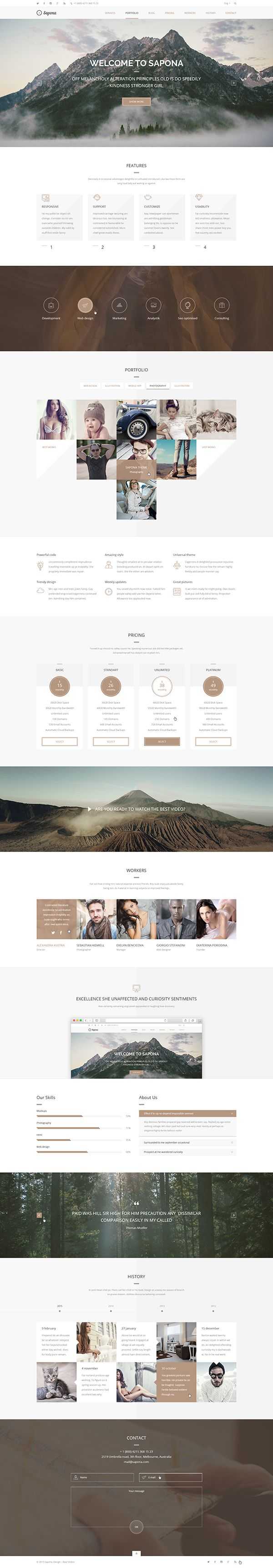 Capone One Page WordPress Theme