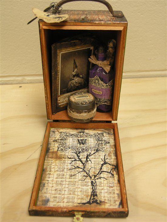 I have to do one for steampunk explorer ;-) ---- Witch's Travel Case (altered cigar box)