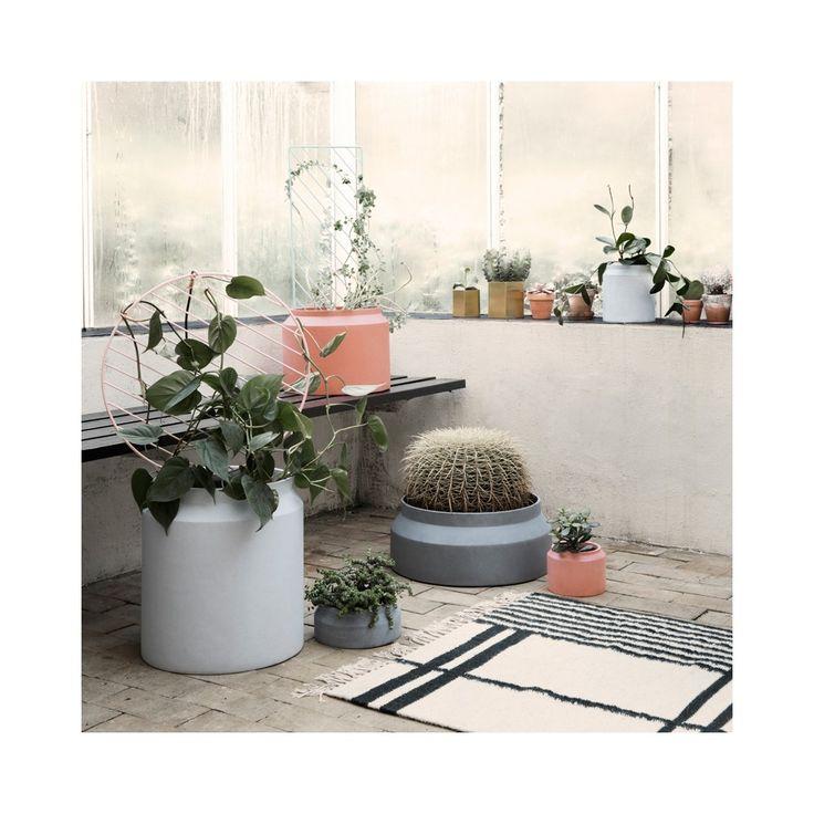 Soportes para macetas de interior stunning deco jardin - Macetas colgantes interior ...